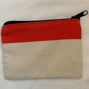 Mini canvas pouch never used!!